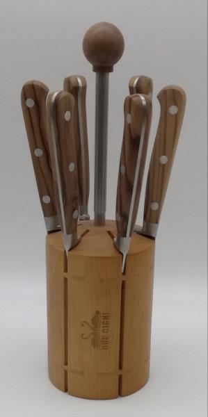 Steakmesser Set 7tlg. Olivenholz