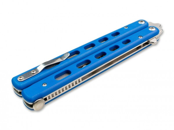 BHQ Balisong Trainer G10 Blue