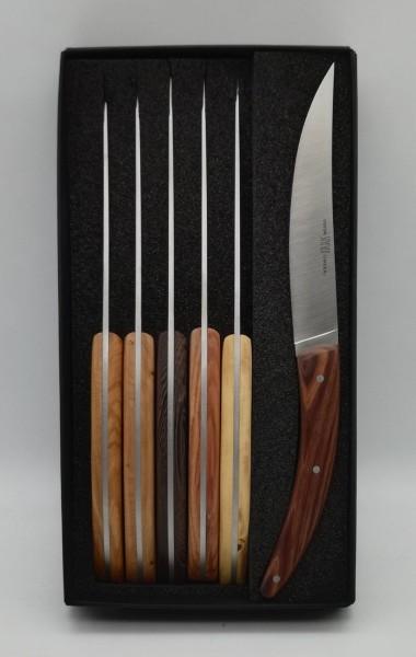 Steakmesser Set 6tlg Stylver Brasserie Mixed Woods